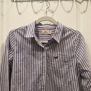 Stretch Button-Front Shirt